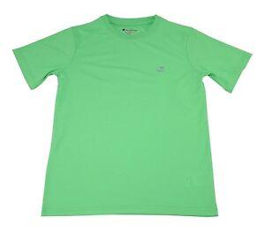 Champion Boys Size 10/12 Short Sleeve Shirt, Neon Green Light (Power Train)