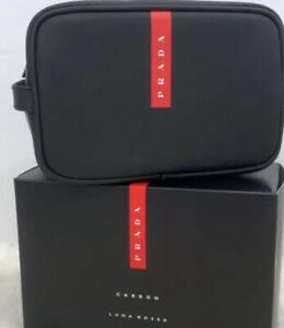 Prada Luna Rossa Carbon 2020 Limited Edition Black Travel Pouch Toiletry Bag