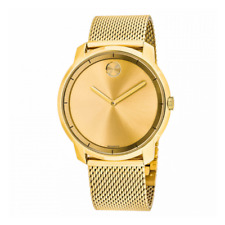 💥 Movado 3600373 Bold Gold Tone Stainless Steel Mesh Bracelet Men's Watch