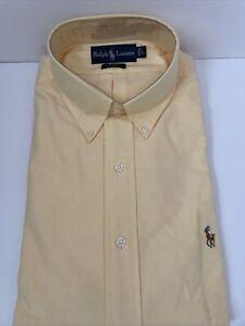 NWT Ralph Lauren Blake Long Sleeve Button Down Dress Shirt 100% Cotton Yellow L