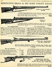 1968 Print Ad of Remington Model 513T Matchmaster, 521T, 40Xb Rangemaster Rifle