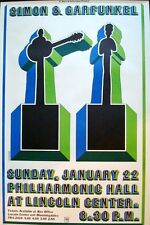 SIMON AND GARFUNKEL Vintage 1967 NEW YORK concert poster MILTON GLASER SUPERB
