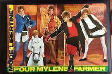 COUPURE de presse PHOTO CLIPPING Mylene FARMER 3 pages année 80