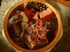 "FRANKLIN MINT ROYAL DOULTON Babe Ruth ""The Sultan of Swat"" collector plate"