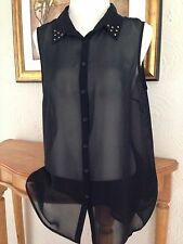 George Collared Sleeveless Blouses for Women