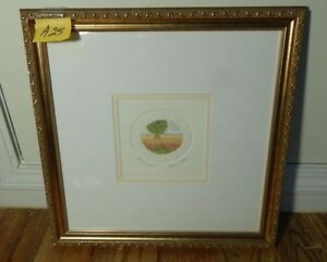 Harvest Field Etching by Stephan Whittle Pencil signed COA 1999
