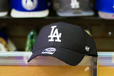 47 Brand Los Angeles Dodgers MVP Black Dad Hat Strapback cap