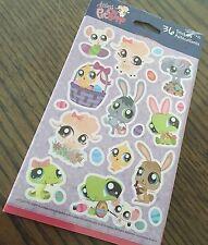 """Littlest Pet Shop 2 sheet  36 assorted craft scrapbooking stickers . New 4 by 6"""""""