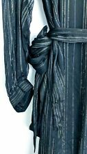 NWT &Other Stories Metallic Stripes Frill Maxi Dress 6 8 US
