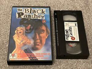 The BLACK PANTHER (1977) AVR BIG BOX ORIGINAL VHS VIDEO. DONALD NEILSON.