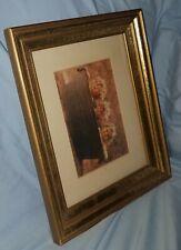 """12x10"""" Vtg Old Picture Frame Wooden Gold Gilt deep pocket Mcm Art Nuevo"""