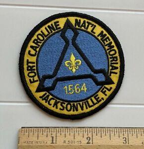 Fort Caroline National Memorial Jacksonville FL Florida Round Embroidered Patch