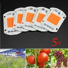 5x 50W Full Spectrum LED COB Chip Plant Grow Light/Lamp