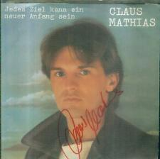 """7"""" Claus Mathias/Bin Ich Niemand (Red Baron) Autogramm"""