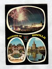 SEVILLA (ESPAGNE) FEU d'ARTIFICE & MONUMENTS en 1981