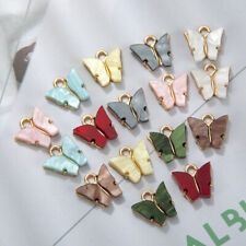 10Pcs Trendy Butterfly Acrylic Charms Lovely DIY Animal Pendant Handmade Jewelry