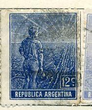 Argentina; 1912 Temprana Edición Definitiva bien Usada Valor 12c.