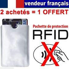 Pochette de protection carte bancaire RFID / NFC Etui ANTI-PIRATAGE Visa CB.*