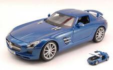 Mercedes SLS AMG 2010 Blue 1:18 Model MAISTO