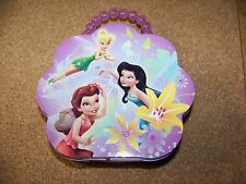 Disney fairies metal pocketbook lunch box bead handle Tinker Bell Rosetta