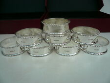 8 Sterling Silver Napkin Rings, Scottish, Hallmarked,Serviette, Boxed, New