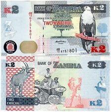 ZAMBIE Zambia Billet 2 Kwacha 2012 (  2013 ) NEW  NOUVEAU UNC NEUF