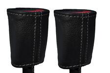 Gris Stitch encaja Mitsubishi Eclipse 95-99 2x cinturón tallo Cuero cubre sólo