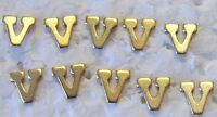 """MILITARY MEDAL RIBBON ATTACHMENT LETTER """"V"""" FOR VALOUR PACK OF 10 DEVICES"""