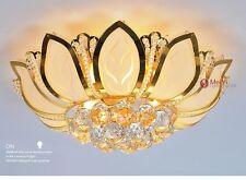 Fiore Moderno Lampadario A Soffitto Con Vetro Paralume Oro Da Camera letto casa