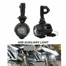 2x40W LED Auxiliary Fog Light Spot Driving Lamp Super Bright For BMW Motorcycle
