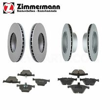 NEW BMW E60 E61 525xi Front & Rear Vented Disc Brake Rotors wih Pads Zimmermann