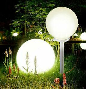 Jumbo Giant Solar Garden Stake Light LED Mood Ball Sphere Globe Post Light White