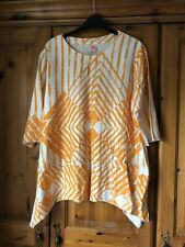 Orange Patterned Tunic Top Size Small