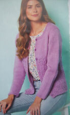 Ladies cable summer CARDIGAN KNITTING PATTERN DK 28 - 62 inch plus sizes