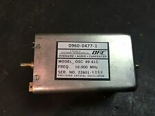 OSC Ovenaire Audio Carpenter OSC 49-61C 10Mhz Precision Crystal Oscillator