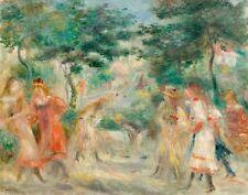 Renoir Auguste Pierre Children In The Garden Playing Croquet Canvas   #7243