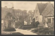Postcard Bibury near Cirencester village view early RP by WA Call Cambria