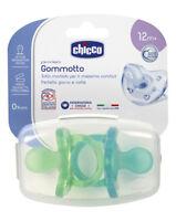 CHICCO 2 Gommotti 12+ Bimbo Gommotto Physio Soft Silicone Succhiotto Ciuccio