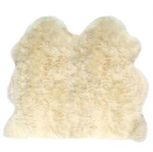 Lambland Extra Large UK Made Double Sheepskin Rug Hide Pelt Natural Ivory hide