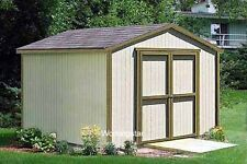 12' x 20' Gable Style Storage Shed Plans / Building Blueprints & Guides # W11220