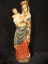 Madonna mit Jesukind, handgeschnitzt, Eichenholz, ca. 42 cm mit Blattgold gefaßt