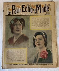 VINTAGE LE PETIT ECHO DE LA MODE FRENCH FASHION MAGAZINE ART DECO 1932 21 AUG 34