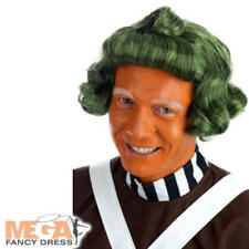 Oompa Loompa Wig Adult Fancy Dress Willy Wonka Factory Worker Costume Accesssory