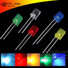 5colors 100pcs 2x5x7mm Rectangular Led Diodes Diffused White Red Blue Mix Kits