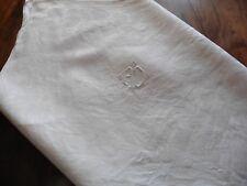 """6 ANCIENNES SERVIETTES DE TABLE """"DAMASSE"""" PUR COTON MONO A D 57 x 61 cm"""