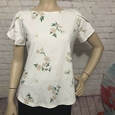 Ann Taylor Factory Women's Top  size M Short sleeve  Floral Print knit Material