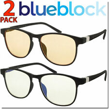 Blue Light Glasses 2 Pair Blue Blocking Lenses Sunglasses Mens Womens Unisex