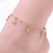 Women Charm Gold Starfish Chain Anklet Bracelet Barefoot Sandal Foot Jewelry