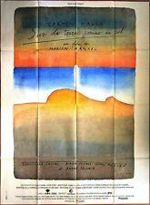Jean-Michel FOLON * SUR LA TERRE COMME AU CIEL * Carmen MAURA* 120 x 160 cm