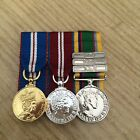 QGJM-QDJM-CADET FORCE Medal choice of clasps FS and Mini court mounted medals
